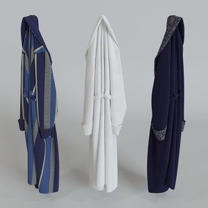 3d bath robe bathrobe