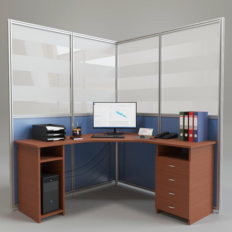 3d office partition