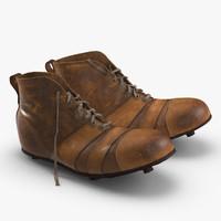 3d vintage football boots