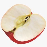 red apple 3 3d model