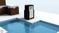 penguins craft 3d max