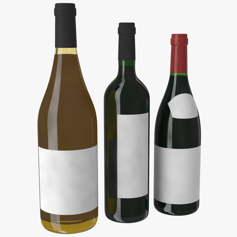 3d bottle wine