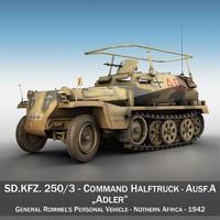 sd kfz 250 3 3d model