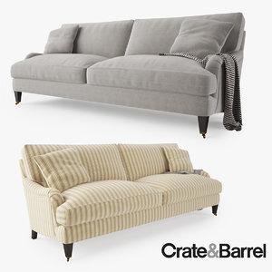 max crate barrel essex sofa