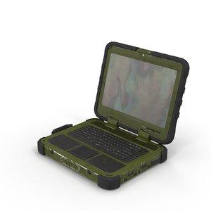 3d military laptop model