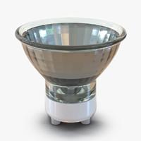 3d model spot light bulb