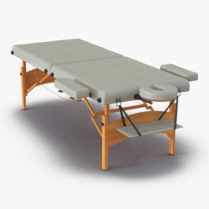 3d model massage table