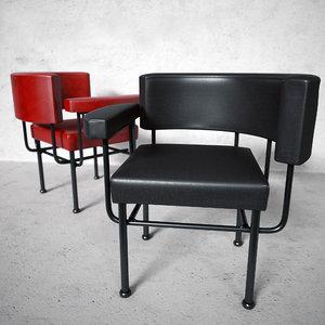 3d model cotton club chair stellar
