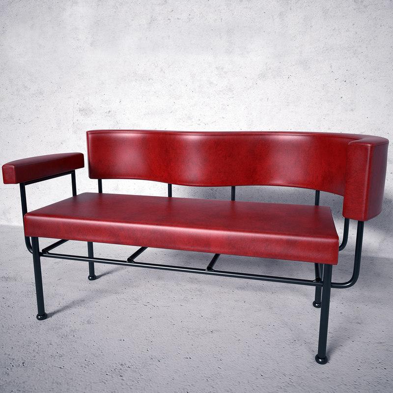 3d model cotton club sofa stellar