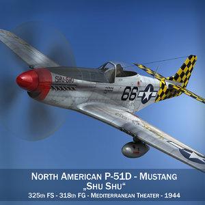 3d model north american - shu