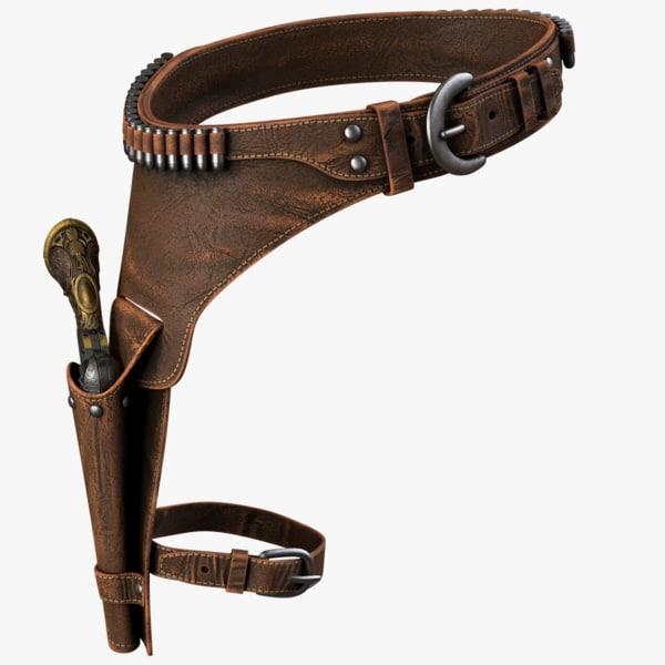 holster revolver 3d model