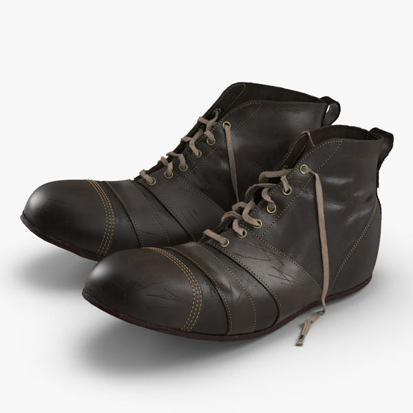 3d model vintage boots