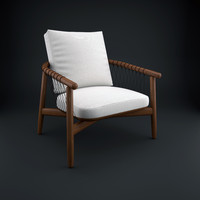 3d model crosshatch chair