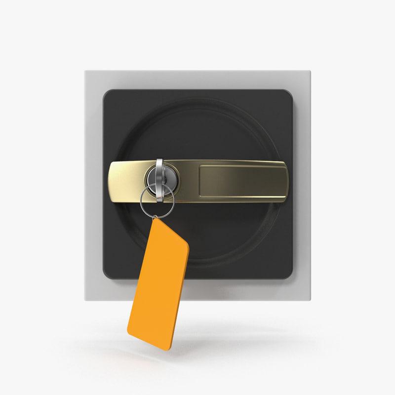 3d model key lock