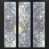 3d stained-glass frosted glass model