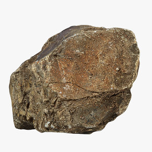 3d model flint stone
