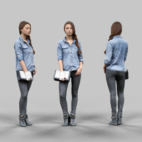 3d girl jeans trousers