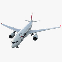Jet Airliner Airbus A330-200 Northwest Airlines 3D Model