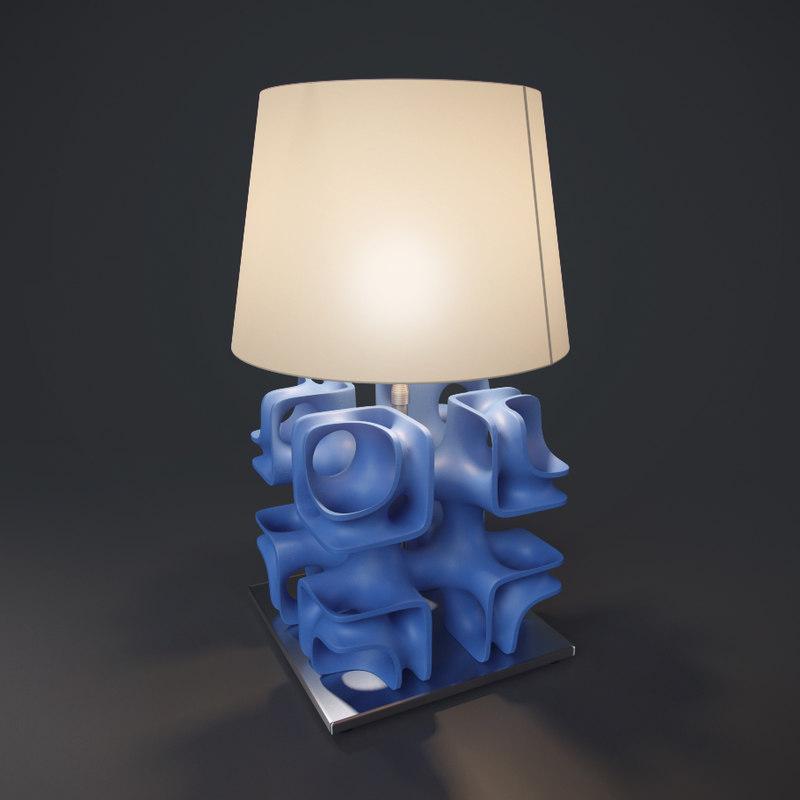 3d model lamp printed