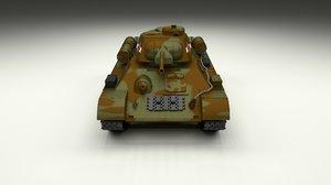 3d soviet 76 tank t model