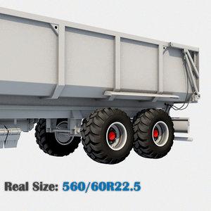 wheel 560 60r22 5 3d model
