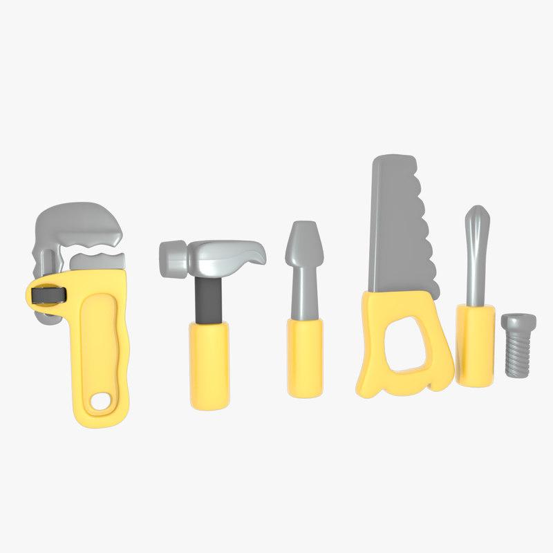 3d model toy tool set