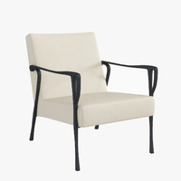 holly hunt dublin lounge chair 3d model