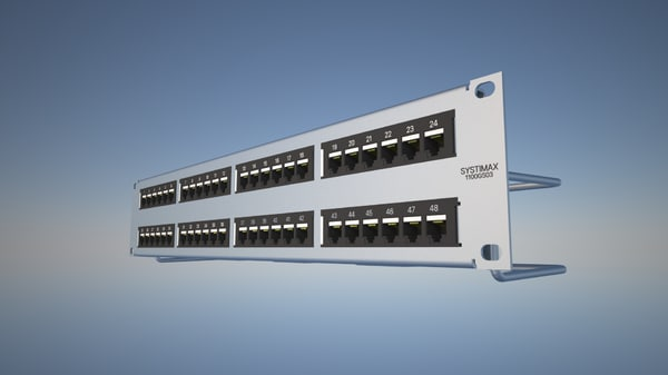 3d model rj45 patch panel
