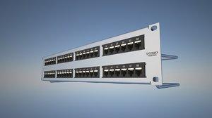 3d model rj45 patch panel