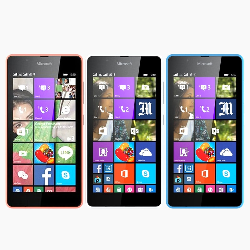 microsoft lumia 540 3d model
