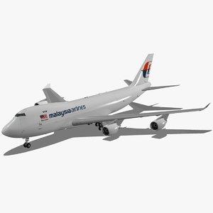 boeing 747-400 f maskargo 3d model