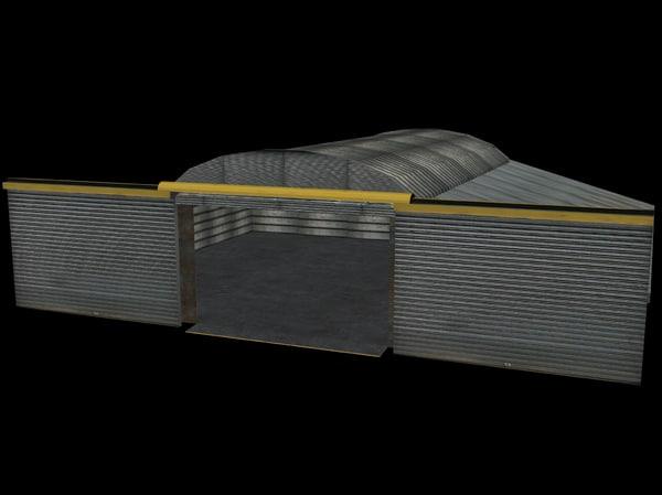 3d building hangar model