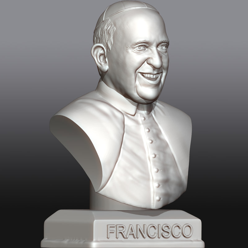 pope francis 3d model