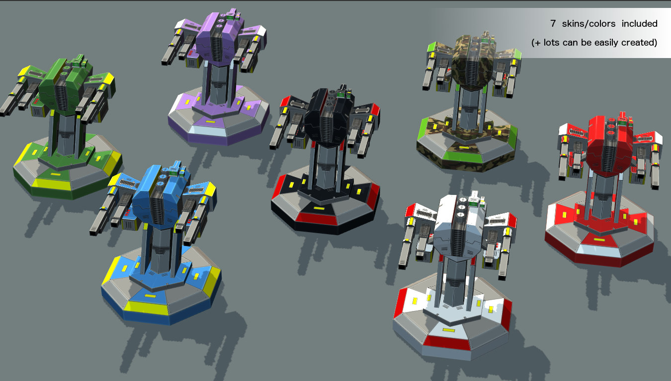 fbx turrets low-poly mobile