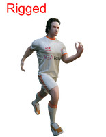 3d foot ball player