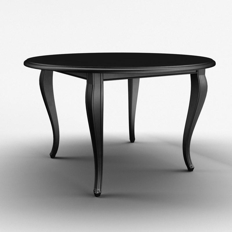 classic cuisine table black 3d max