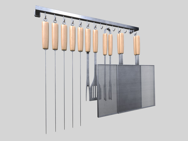 barbecue tools 3d dxf