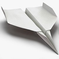 Paper Airplane 3D Models for Download | TurboSquid