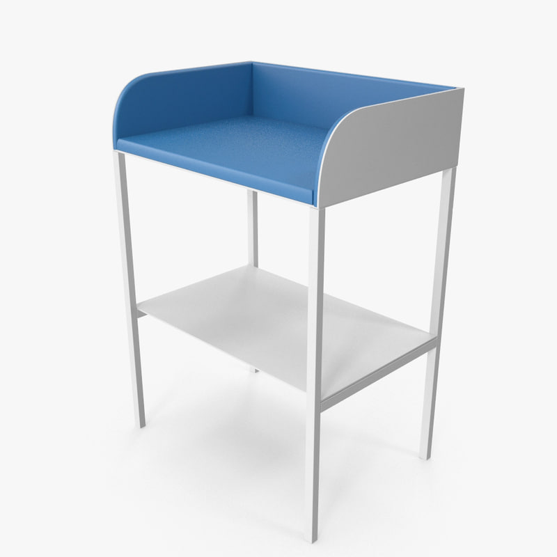baby changing table m1 3d model