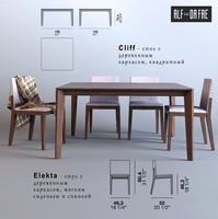 3d table chairs alf dafr model