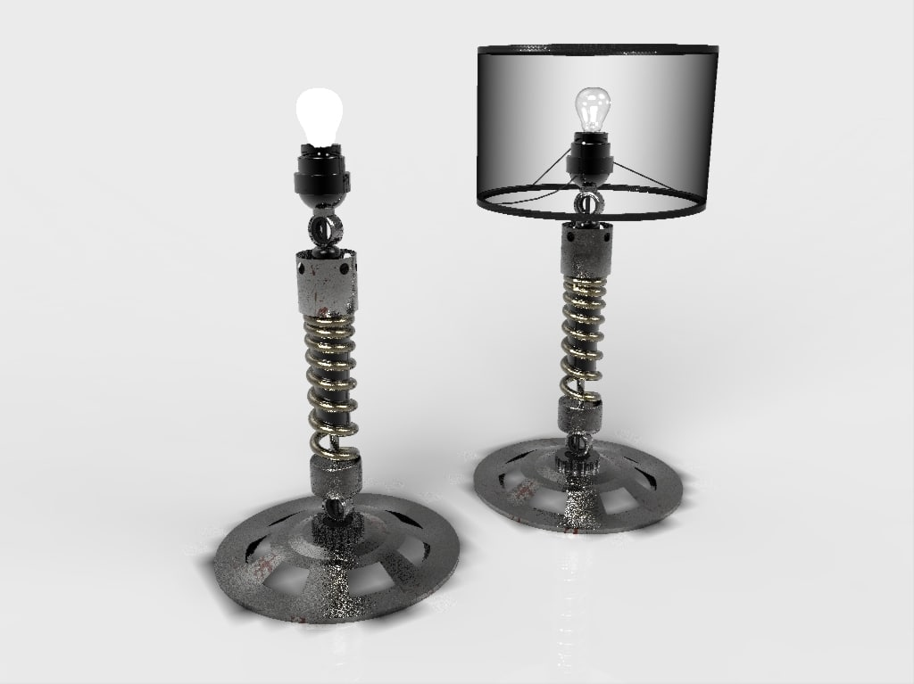 motorcycle lamp furniture 3d max