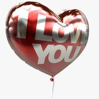 balloon heart valentine 3d 3ds