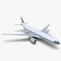 3d model airbus a330 p2f cathay pacific