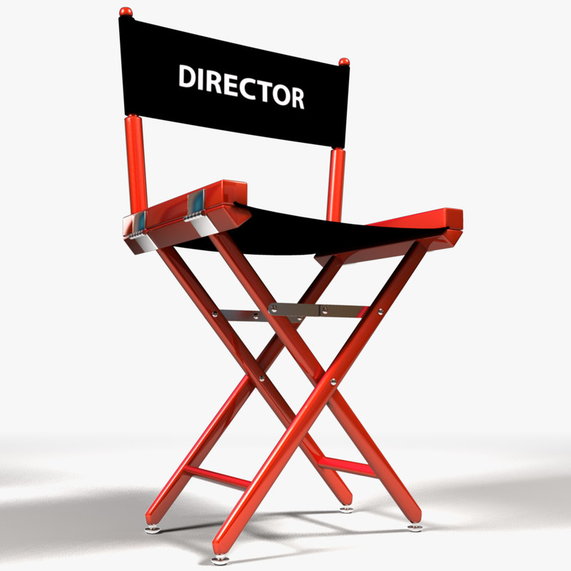 3d director s chair model