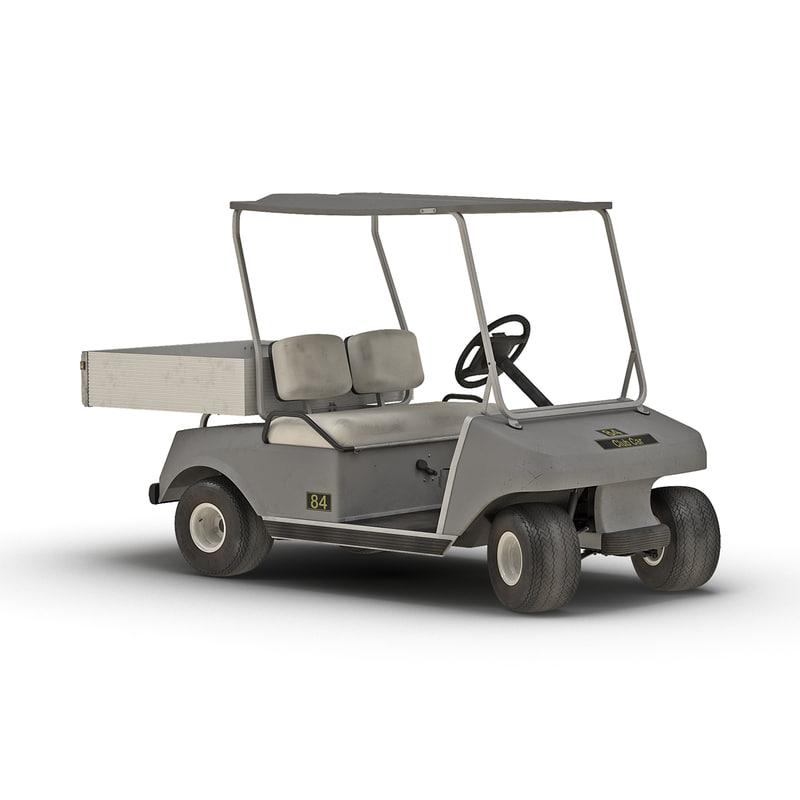 golf cart gray rigged max