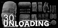 3d kit unloading model
