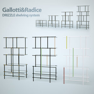 drizzle shelving 3d max