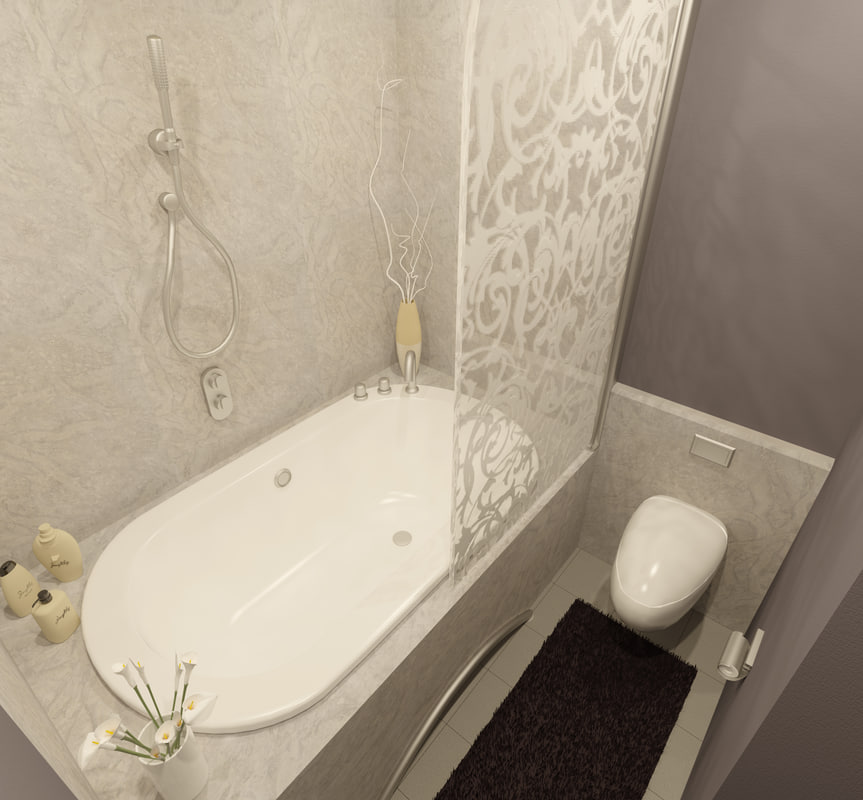 3d bathroom corona model