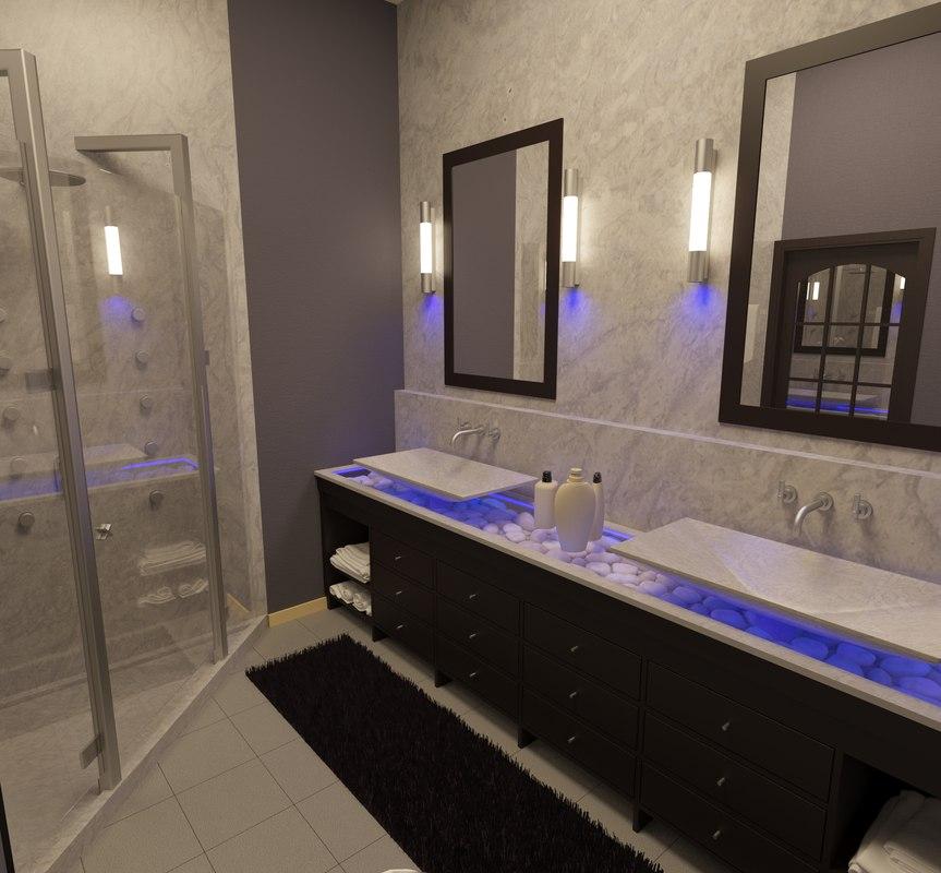 bathroom corona 3d model