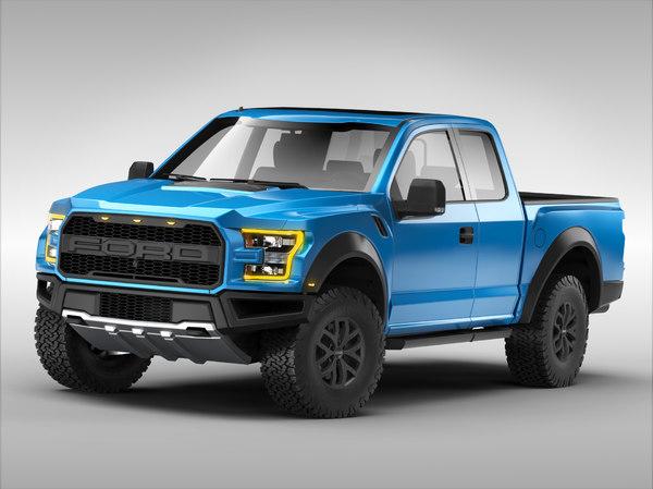 3d model f150 raptor 2017